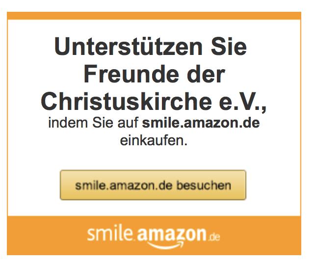 Banner für Bestellung über Amazon smile
